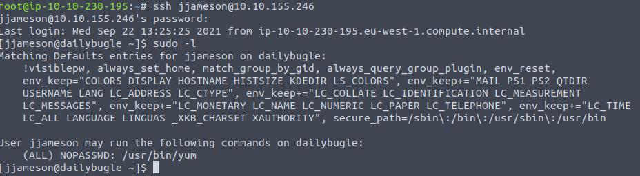 Amazing TryHackMe Daily Bugle WriteUp