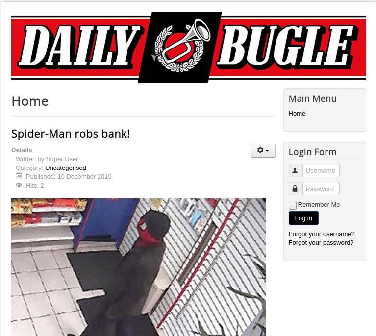 TryHackMe Daily Bugle